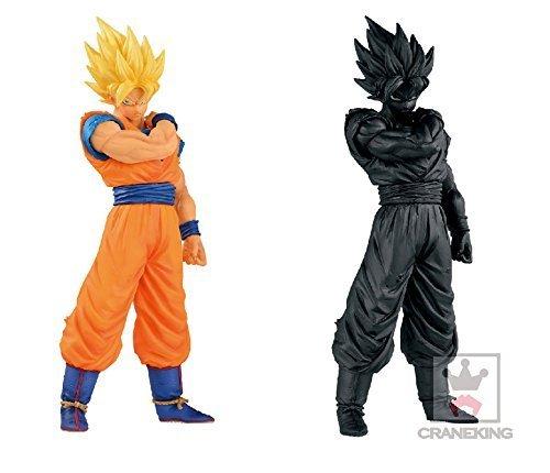 Japan Import Dragon Ball Z Resolution of Soldiers vol.1 Super Saiyan Goku whole set of 2 [Normal Color Ver. / Black color Ver.]
