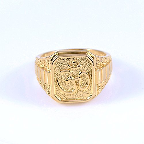 Us DeSiGn Men 18K Yellow Gold Plated India God Ring US 11 Buy