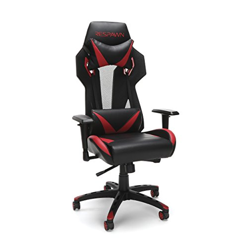RESPAWN-205 Racing Style Gaming Chair - Ergonomic Performance Mesh Back Chair, Office Or Gaming Chair (RSP-205-RED)