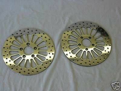 DUAL SUPER SPOKE ROTOR FRONT 11.5 FLH/FLT TOURING BAGGERS 00-07 WITH BOLTS