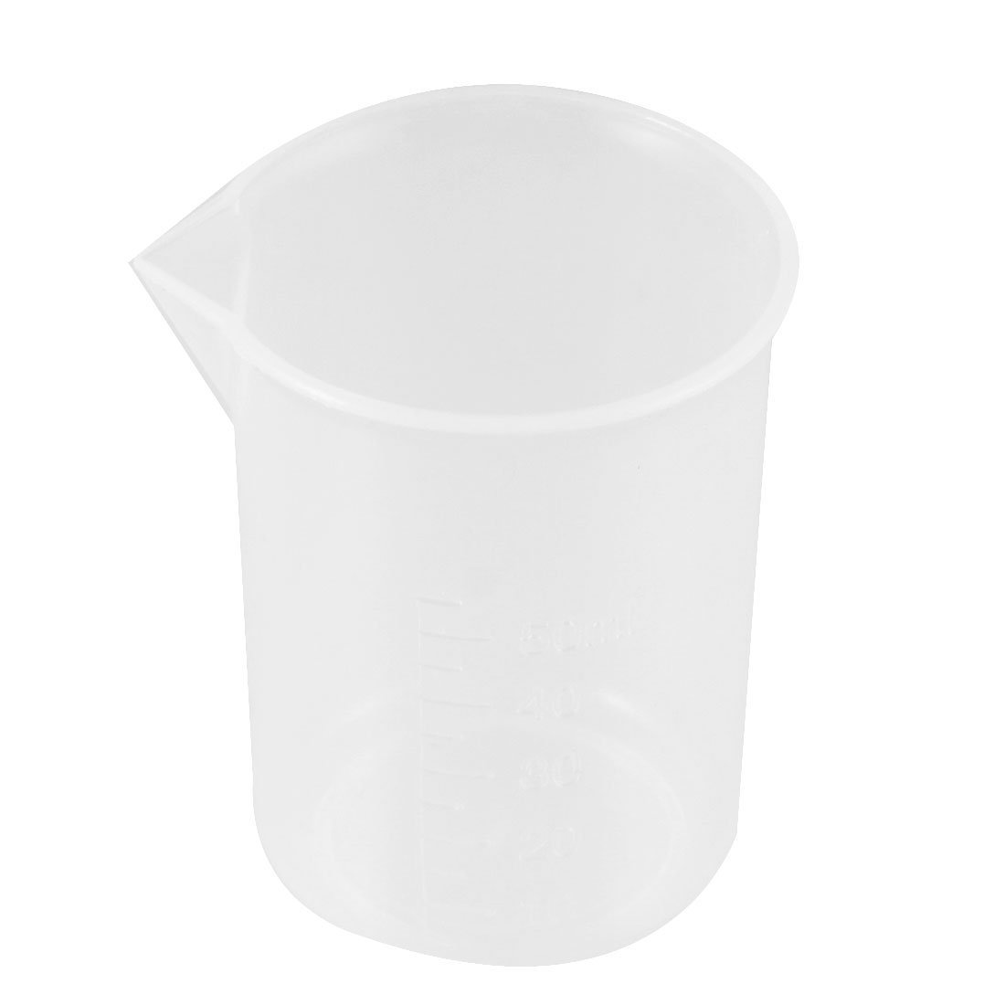 50mL Capacity Transparent Measuring Cup Beaker Laboratory Set Sourcingmap US-SA-AJD-19180