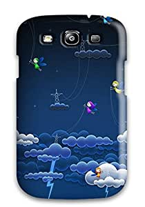 Faddish Phone Cloud Lightnings Case For Galaxy S3 / Perfect Case Cover