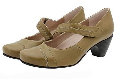 Chaussure Natur Mary Femme 175403 Noix jane Piesanto Confort Cuir Amples Confortables En Rddqa
