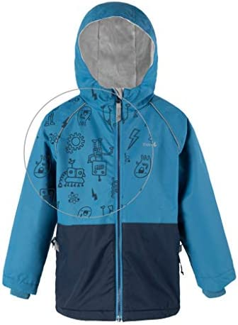 Toddler Kids Youth Fleece Lined Therm Girls Rain Jacket Lightweight Eco Raincoat with Magic Pattern