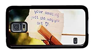 Hipster Samsung Galaxy S5 Case slim you are amazing PC Black for Samsung S5