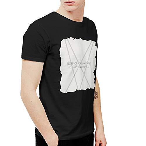 Chuntengranmao Florence and The Machine Men's Short Sleeve T-Shirt Black -