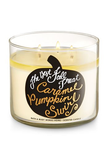 Bath & Body Works 3 Wick Caramel Pumpkin (Caramel Candles)