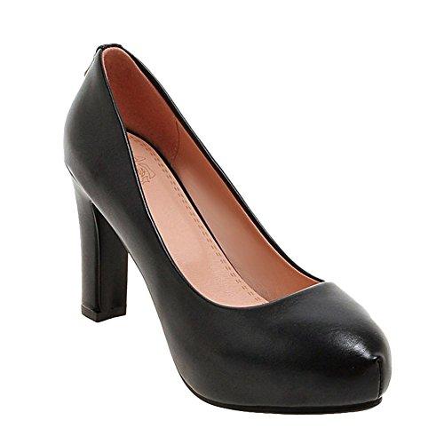 Mee Shoes Damen high heels inner Plateau Geschlossen Pumps Schwarz