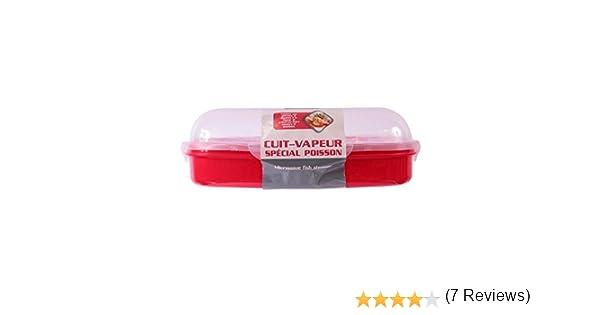 Recipiente para cocinar al vapor pescados y verduras en el microondas: Amazon.es: Hogar
