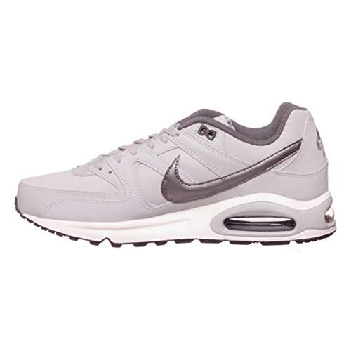 Grey Mtlc Command Homme Air Grey de 012 Max Wolf Gris Black White Dark Nike Leather Running Chaussures qvTwwPE