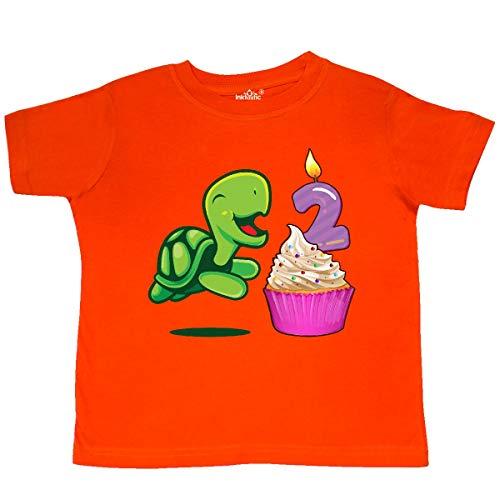 inktastic - 2nd Birthday Turtle Toddler T-Shirt 2T Orange 356d1