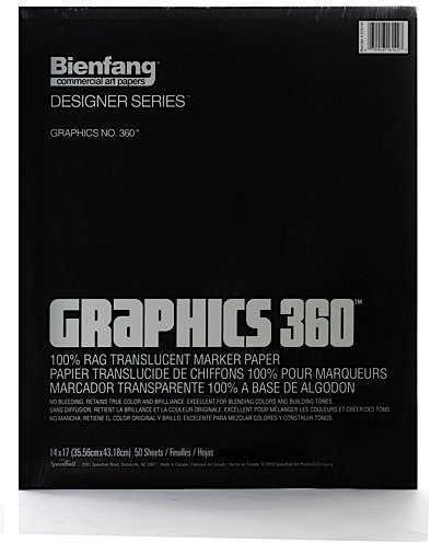 Bienfang Graphics 360 100% Rag Translucent Marker Paper (14 In. x 17 In.) - Pad of 50 1 pcs sku# (Bienfang 360 Graphics Pad)