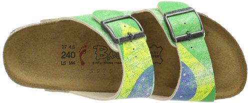 Birkis SANTIAGO BF DF 513423 Unisex-Erwachsene Clogs & Pantoletten Grün (FLAG BRAZIL)