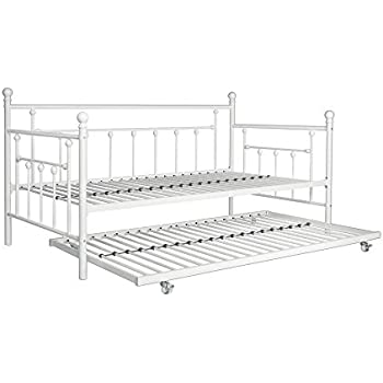 this item dhp manila metal framed daybed with trundle twin white - White Twin Bed Frame