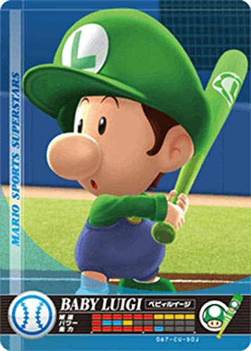 Nintendo Mario Sports Superstars Amiibo Card Baseball Baby Luigi for Nintendo Switch, Wii U, and 3DS