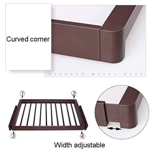 Pull Out Trousers Rack Extendable Pants Hanger Rail with Damper Tie Organizer for Wardrobe (764-815mm) by FKhanger (Image #5)