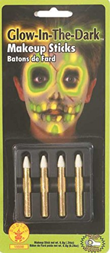 Rubie's Costume Glow-in-the-Dark Makeup Sticks (Set of 4)