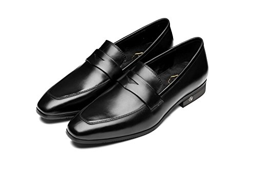 OPP Mens Classic Slip Round Toe Loafers Dress Shoes 9.5 Black
