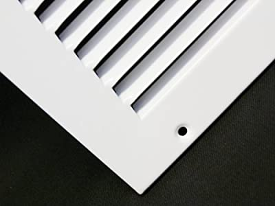 """24""""w X 14""""h Steel Return Air Grilles - Sidewall and Ceiling - HVAC DUCT COVER - White [Outer Dimensions: 25.75""""w X 15.75""""h]"""