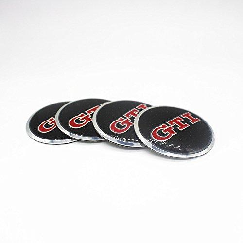 Vw Golf Rim Wheel (New 4pc GTI Car Wheel Center Hub Caps Cover Rim Sticker Badge Styling For VW Golf 6 7 Passat CC Polo Tiguan Touran Lamando)