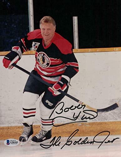 Blackhawks Chicago Photo 8x10 - Bobby Hull Autographed Chicago Blackhawks 8x10 Photo Golden Jet BAS
