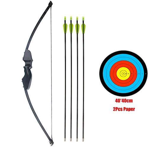 PG1ARCHERY Takedown Bow and Arrow Set, Archery Game Sports Practice Target Hunting Bow Kit with Fiberglass Arrow for Adults Junior Youth 40lbs (Arrow Adult)