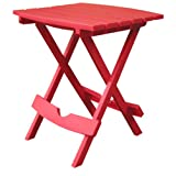Adams Manufacturing 8500-26-3700 Quik-Fold Side Table, Cherry Red