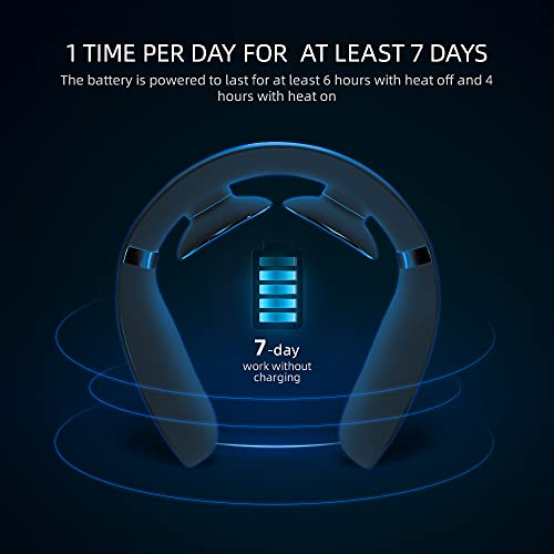 TUNNU Neck Massager for Pain Relief, Deep Tissue with Heat, Hands-Free Portable, 5 Modes 16 Levels Hand Massage Simulation, Intelligent Massage for Sore Relief, A Gift with Free Handbag