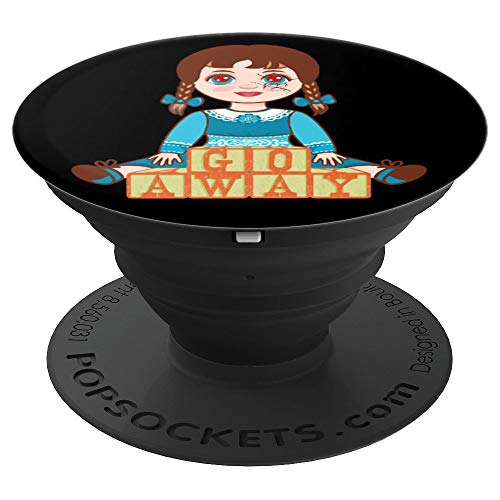Spooky Haunted Doll Graphic - PopSockets Grip and Stand for Phones and Tablets