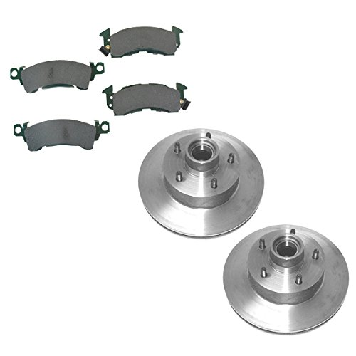 Lemans Front Brake - Front Disc Brake Rotors & Posi Ceramic Pads Kit Set for Buick Cadillac Chevy GMC