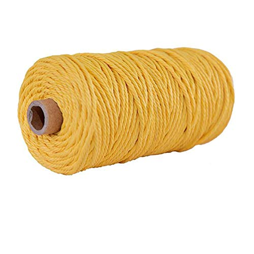 3mm DIY Macrame Cord,Mustard Macrame Rope,Macrame Supplies,Macrame String,Yarn for Macrame,Macrame Yarn,Cotton Rope,Craft Cord,Twisted Rope