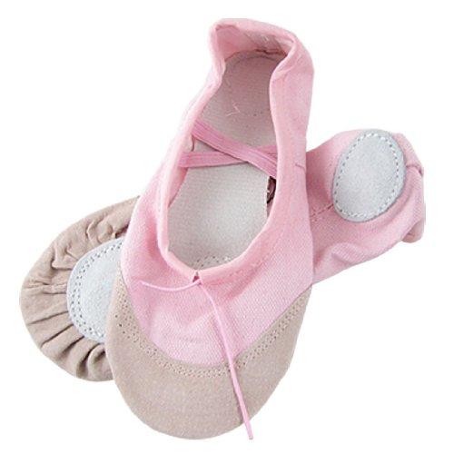 Gleader Ragazze Rosa scarpe di balletto elastico US 13