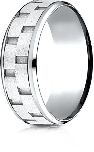 Womens 14k White Gold Sandblasted - 1