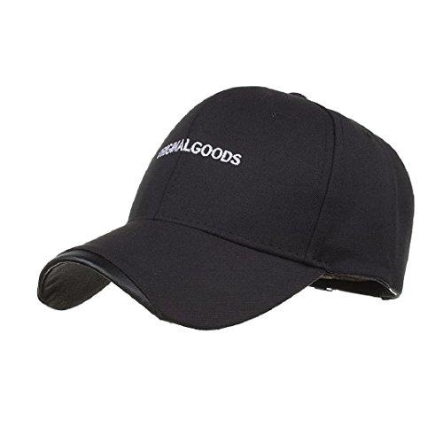 ShenPr Clearance Unisex Solid Denim Baseball Letter Knit Cap Snapback Adjustable Hip-Hop Hat (Black)