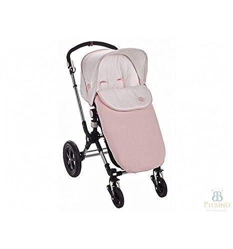 Saco para silla de carro de paseo Paz Rodriguez universal LANIN rosa tiza. Con respaldo ancho compatible con Bogaboo, Bebecar, etc.: Amazon.es: Bebé