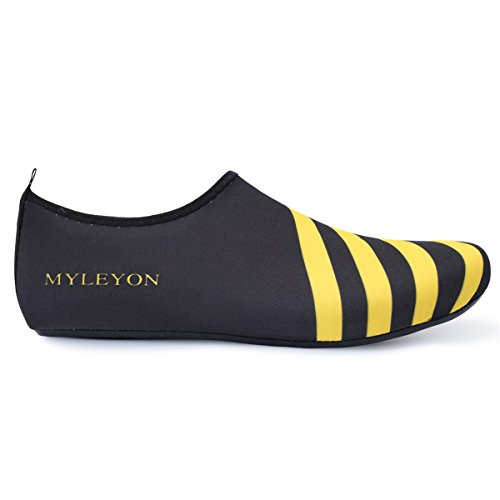 Socks Yoga for Mens Aqua Water Beach Outdoor Womens Shoes Surf Stripe Yellow Sport Swim Barerun YqHfwn