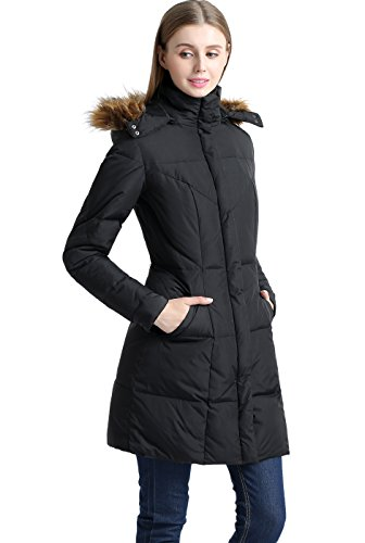 "BGSD Women's ""Elisa"" Water Resistant Down Parka Coat - Black XS"
