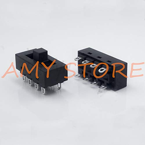 (2pcs 12A 250V 3 Position 8 Pin Toggle Slide DIP Switch LQ-103H Hair Dryer Hot Cold Wind for JJ-15 Philips Flyco FH6218/20/21/31)