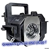 Guaranteed for One Year - ELPLP49 / V13H010L49 Premium Replacement Projector Lamp with Housing for Epson Projectors