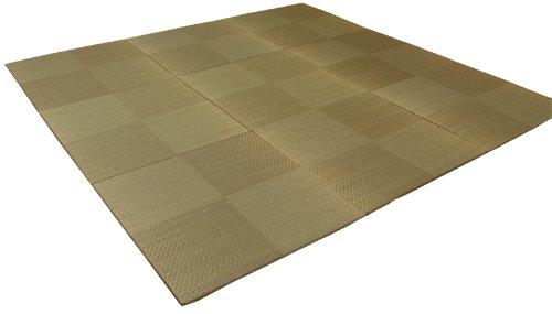 イケヒコ い草 置き畳 ユニット畳 国産 シンプル 9枚組 『シンプルノア』 ブラウン 約82×82×1.7cm 9P B0013U9DAO ブラウン