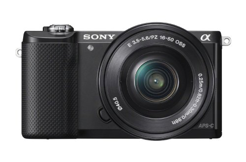 Sony Alpha a5000 Mirrorless Camera with 16-50mm Retractable OSS Lens, Built-in Wi-Fi and NFC, 1080P Video and 3
