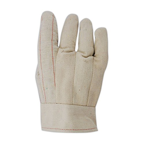 Magid Glove & Safety 596BT Heater Beater 22 oz. Cotton Canvas Hot Mill Gloves, Large, Natural (Pack of 12) Hot Mill Knuckle Strap