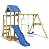 WICKEY Climbing Frame TinyPlace Playground with Swing and Slide, Sandpit and Rope Ladder