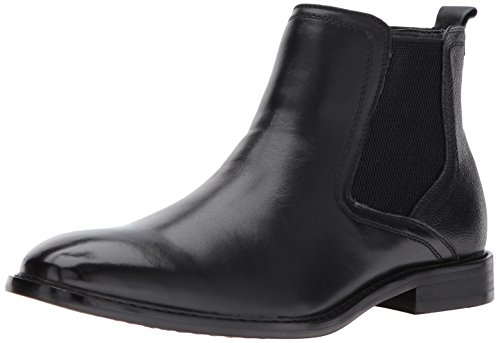 Steve Madden Men's Aziz Chelsea Boot, Black Leather, 10 US/US Size Conversion M US