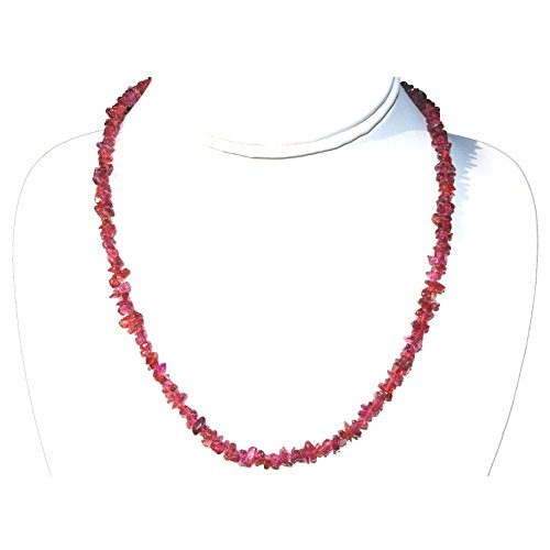 CHARGED 18 Rhodolite Garnet Crystal Chip Necklace Tumble Polished HEALING ENERGY / PSYCHIC PROTECTION REIKI by ZENERGY GEMS