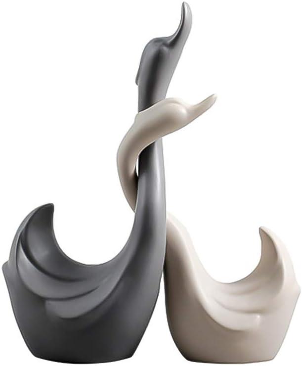 Yhch Couple Elephant Statue Decoration Animal Figurine Modern Home Decor Sculpture Wedding Gift Art Decor Christmas Birthday Gifts-Couple 4inch