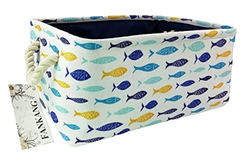 Rectangular Fabric Storage Bin Toy Box Baby Laundry Basket with Flamingo Prints for Kids Toys and Nursery Storage, Baby Hamper, Book Bag, Animals Storage Toy Boxes, Gift Baskets
