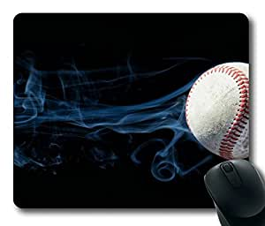 Baseball Oblong Mouse Pad by Cases & Mousepads
