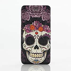 Purple Skulls Pattern Full Body Case with Stand for iPhone 6