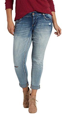 51a6ef85454f0 70%OFF Maurices Women s Denimflex Plus Size Skinny Boyfriend Jeans In Medium  Wash